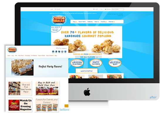Example of a E-Commerce website redesign.